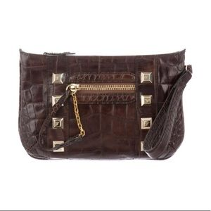 Temperly London Brown Embossed Leather